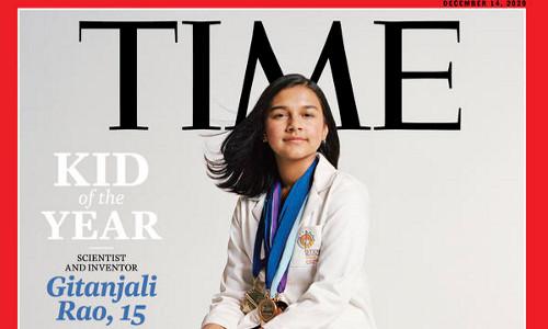 Time magazine cover featuring Gitanjali Rao.